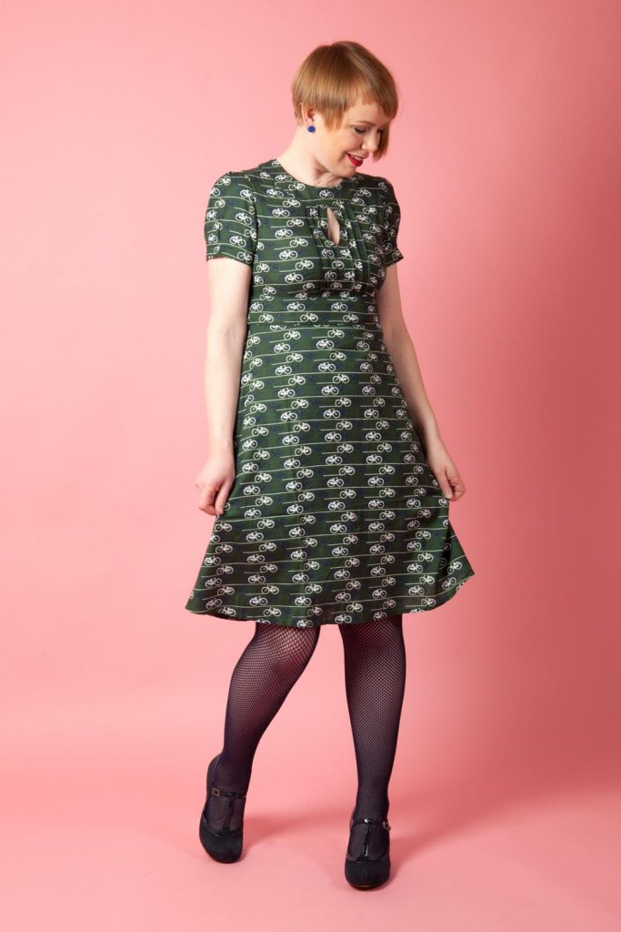 Green Paddy's Day style vintage inspired dress
