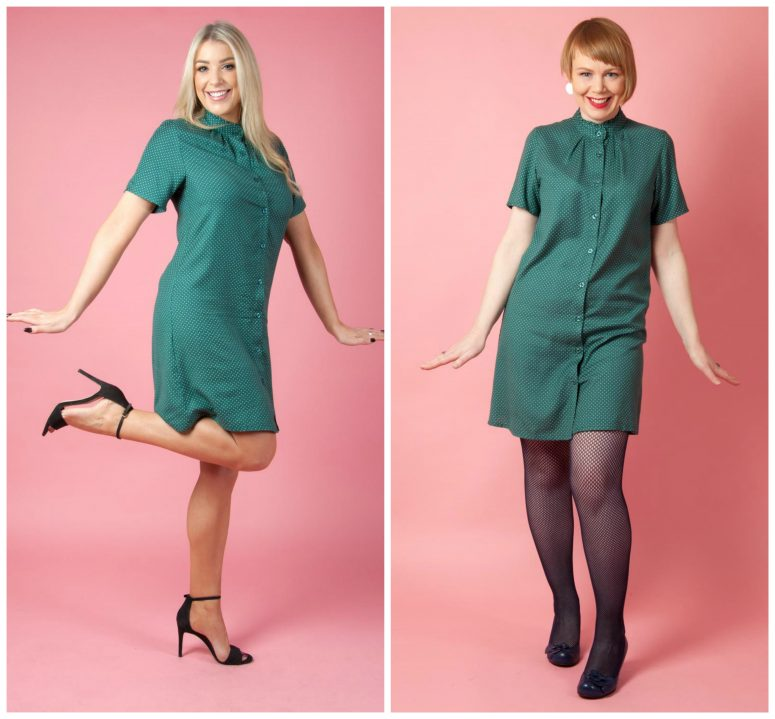 1960s inspired Paddy's Day Style dress in green by Circus