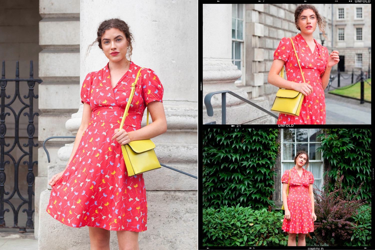 vintage inspired style bright dress